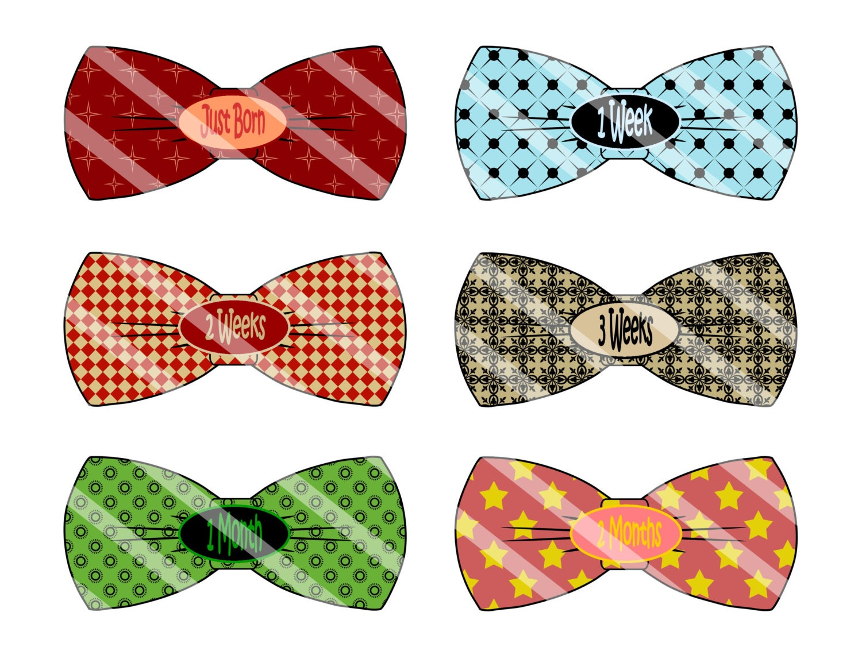 Bowtie Sticker Bow Tie Baby Sticker Printable Bow Tie
