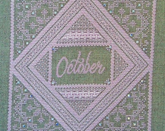 Birthstone Series: Opal PDF Chart by Northern Expressions Needlework