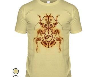 Steampunk Beetle T-shirt Clockwork Scarab T Shirt Movie Film Sci-Fi Steam Punk Victorian Vintage Tshirt