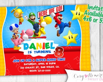 Super Mario Bros- Digital Invitation