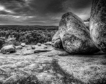 Elephant Rocks  - Fine Art Photography - Black & White