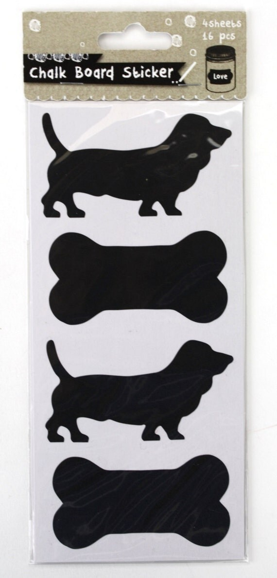 Chalkboards of Dogs Stickers Fashion