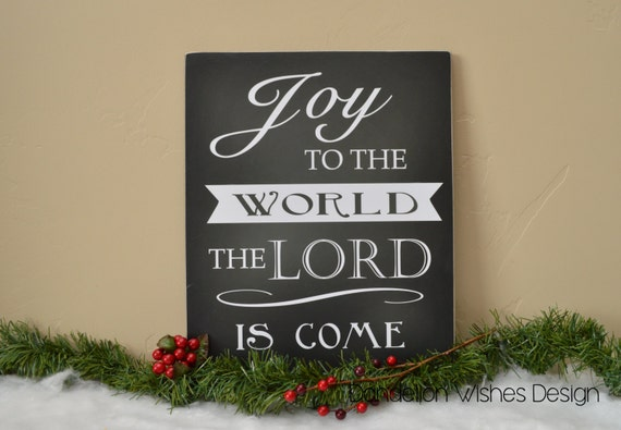 JOY to the World Wooden Sign Christmas Decoration Chalkboard