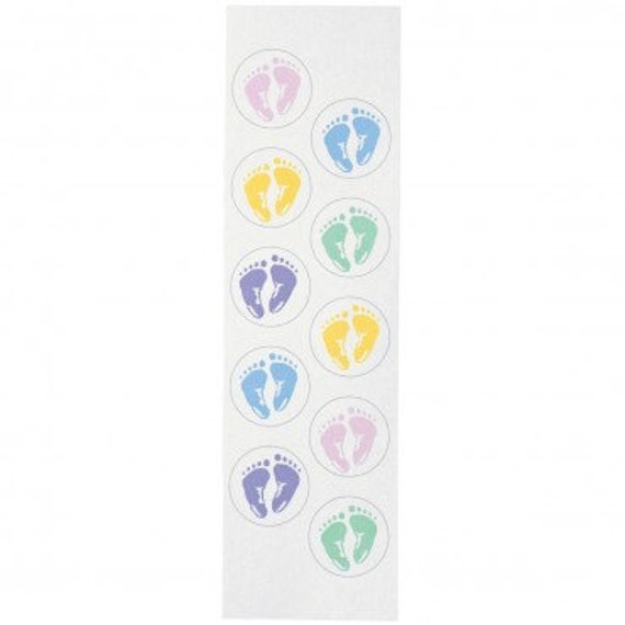Wilton 50 baby shower invitation seals baby by bigcatcrafts - Wilton baby shower favors ...