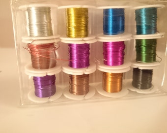 Colorful metal wire