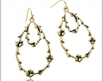 Irish Twig Earrings, Gold