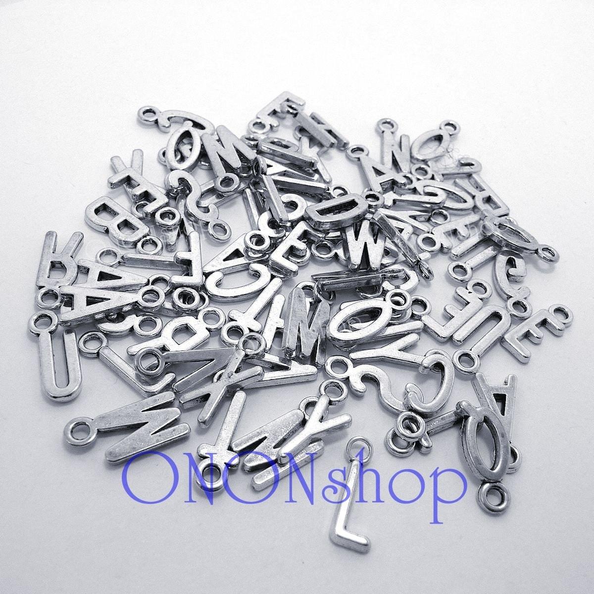 metal letter charms 78 pieces bead landing metal alphabet