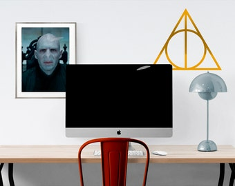 Harry Potter Deathly Hallows Logo Wall Decal - HP Wall Decal