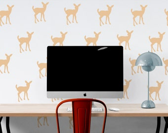 Deer Fawn Pattern Wall Decal