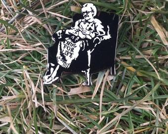 Banksy Thug for Life Pin