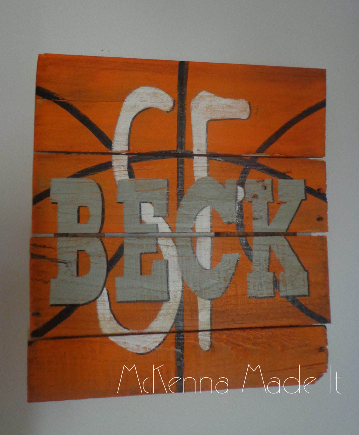 Personalized basketball pallet wood sign by mckennamadeit2013 - Custom signs for home decor concept ...
