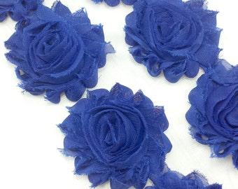 Royal blue - Shabby flower trim by the yard - Shabby flower