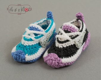 Cute as a button Sneakers US CROCHET PATTERN