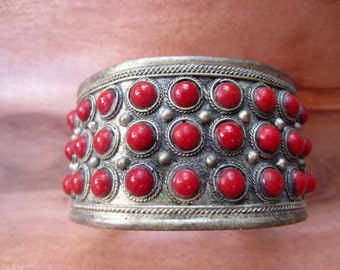 Vintage Cuff Bracelet with Stones