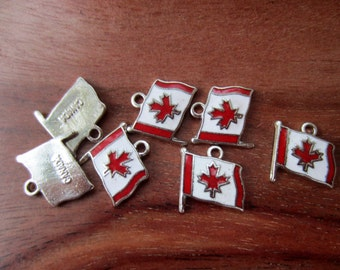 Vintage Canada Canadian Flag Charms