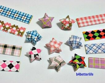 250 strips of DIY Origami Lucky Stars Paper Folding Kit. 26cm x 1.2cm. #C124. (XT Paper Series).