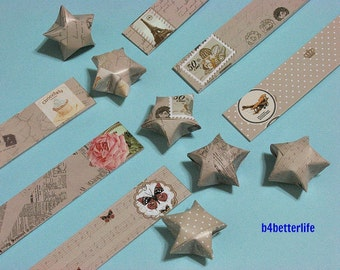 180 strips of DIY Origami Lucky Stars Paper Folding Kit. 26cm x 1.5cm. #K005. (XT Paper Series).