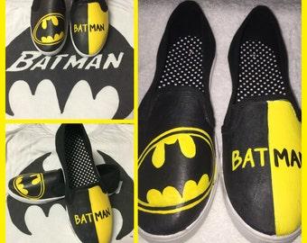 Custom Painted Batman Shoes