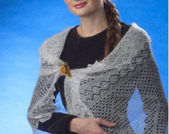Woman shawl. Wedding shawl  Knitted  Orenburg shawl.