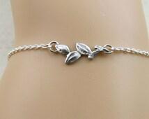 Sterling silver vine bracelet, silver twig bracelet, bridesmaid bracelet, bridesmaid gift, nature inspire bracelet, stacking layering