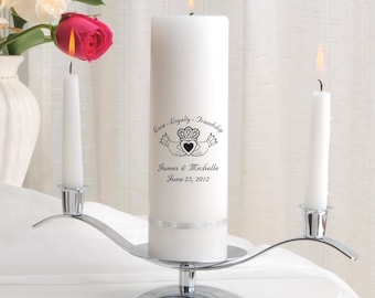 Unity Candle Set - Personalized Wedding Candle Sets - Unity Candles - GC330 E5
