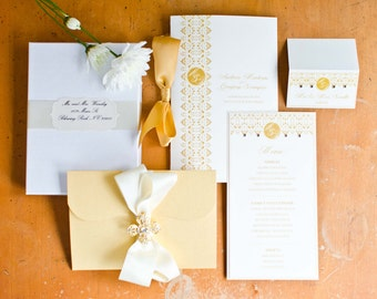Invitation box gatefold invitation boxed wedding invitation - Pink And Gold Wedding Amp Event Invitation By Cutinvites On Etsy