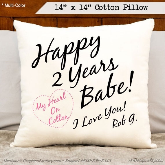 Two Year Wedding Anniversary Gift: Items Similar To 2nd Anniversary Cotton