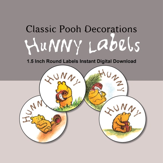 15 inch round hunny labels instant digital download for 5 inch round labels