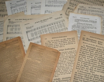 LOT of 100 vintage antique old BOOK PAGES assorted ephemera supplies for art crafts decoupage mixed media scrapbooking collage
