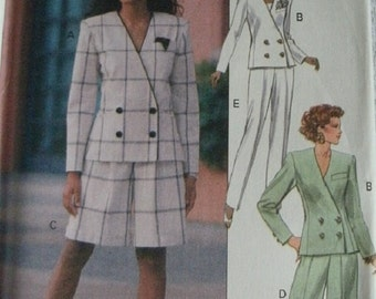 Misses Jacket, Shorts and Pants Sizes 20-22-24 Butterick Leslie Fay Pattern 6104 Rated AVERAGE Difficulty UNCUT Pattern Dated 1992 Amazing!
