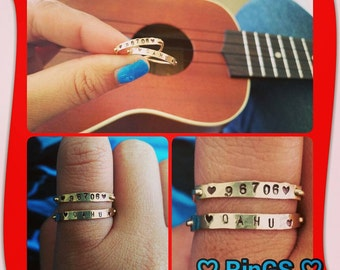 Personalized ID custom stackable gold filled rings
