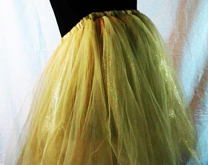 Full Figured Gals  Gold Tutu Skirt