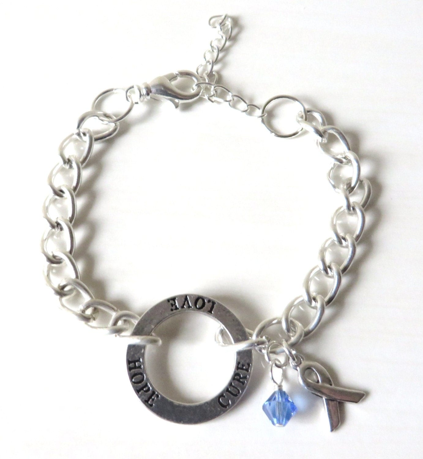survive cancer arthritis adjustable i bangle survivor img blue colon products will expandable silver charm bracelet awareness gift