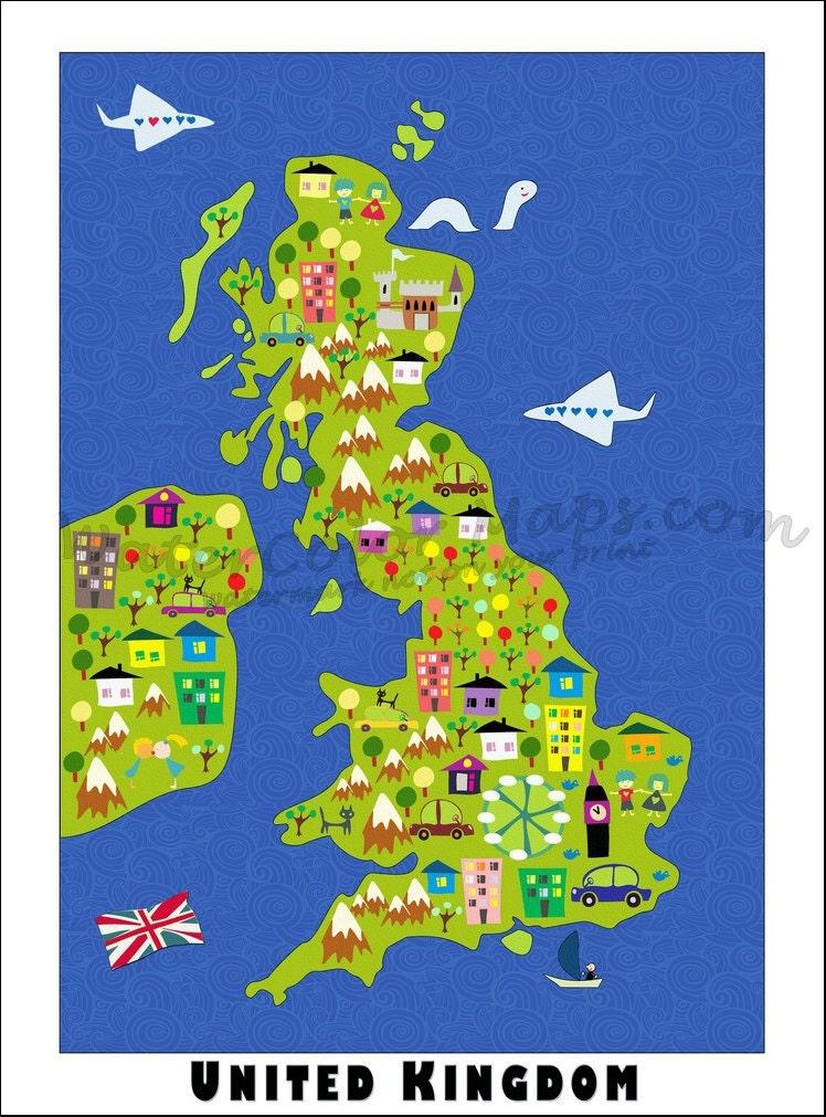 kids maps united kingdom map childrens maps map of united