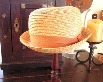 Antique French Child's Straw Hat Provence