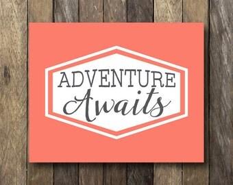 Typography Quote Print - Instant Digital Download -Travel Quote Print - Typography Quote - Travel Art Print - Typography Print - Travel Art