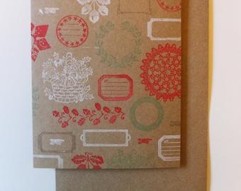 Vintage Christmas Card : «Joyeux Noël» à l'intérieur