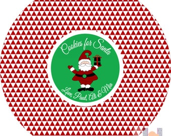 Monogram Monogram Santa Cookie Christmas Plate. Start a FUN holiday tradition with a plate customized with your family name. PERFECT GIFTS!