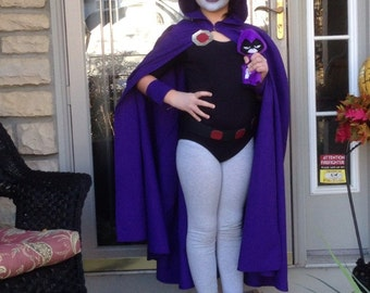 Child's costume inspired by Raven from Teen Titans