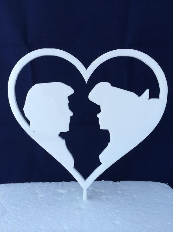 Ariel And Eric In Boat Kiss The Girl Cake Topper