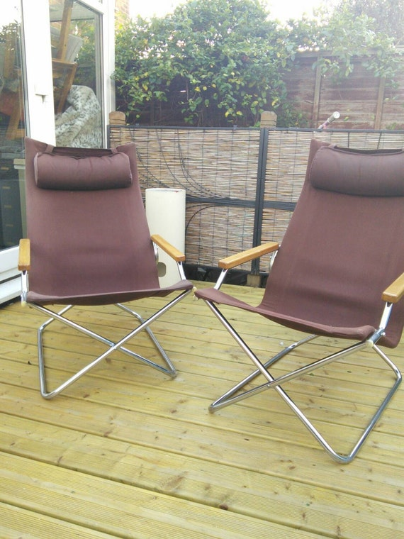 A mid-century folding 'Z' Japanese lounge chair