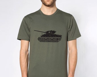 KillerBeeMoto: World War 2 M4 Sherman Tank Short & Long Sleeve Shirts