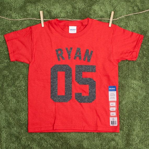 Personalized youth name and number t shirts by for Order custom t shirts canada