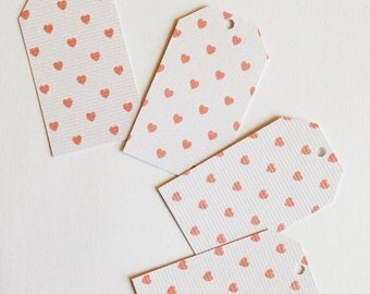 Textured Heart Tags