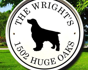 Dogs/Address Plaque/ Dog Breed Gifts/Dog Lover Plaques/Gifts for Dog Lovers/ Personalized Home Plaque/Ceramic House Plaque/Welcome Sign