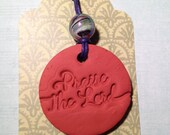 Praise the Lord Aromatherapy Terra cotta Clay oil diffusing Pendant