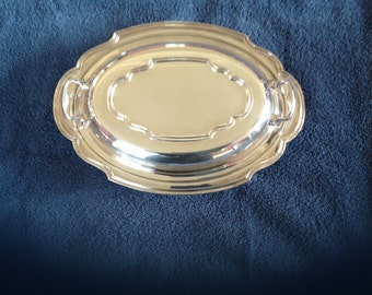 Vintage Lawrence B. Smith Co. Silverplate EPC Lidded Serving Dish
