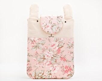 Pink iPad mini Case, iPad mini Cover, iPad mini sleeve, Tablet case, Bunny, Rabbit