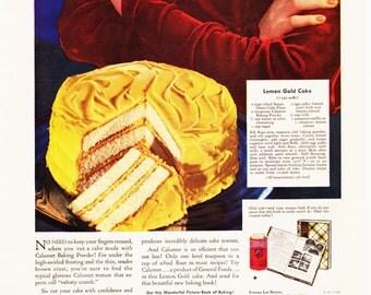 Vintage Ad Calumet Baking Powder Good Housekeeping February 1934 2nd Side Royal Gelatin
