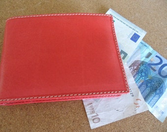 Mens Wallet, genuine  leather Italian design  handmade